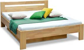 DREVONA Manželská posteľ z bukového masívu 160x200 MATE 2