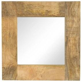 vidaXL Zrkadlo masívne mangovníkové drevo 50x50 cm