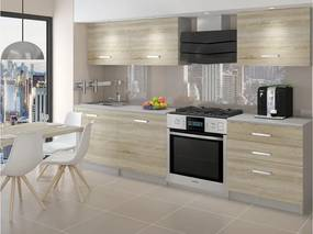 Kuchyňa dub sonoma Lima 180 cm
