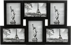 Fotorámik Panorama na 6 fotografií, čierna