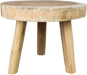 Príručný drevený stolík HSM collection Munggur, ⌀ 45 cm