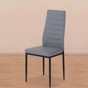 Jídelní židle VALERIA šedá - 4ks