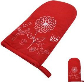 Červená teflonová rukavica s magnetom Orion Kvet