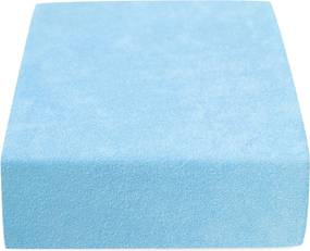 Froté jednolôžko svetlo modré Velikost: 90 x 200 cm, Gramáž: Economy (150 g/m2)