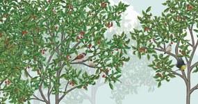 BIG RAVEN FOREST - VERTICAL FORMAT – 150 x 75 cm