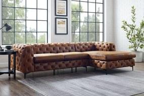Rohová sedačka Modern Barock hnedá