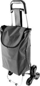 APT AG405C Nákupná taška na kolieskach do schodov 37 L sivá