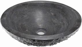 Blok 2401-33 kamenné umývadlo 42x14 cm, čierny Antracit
