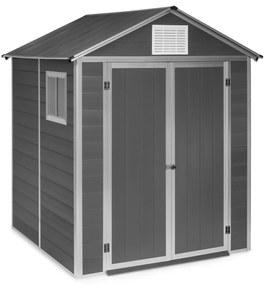 Schatzkammer, záhradná šopa, ochrana pred UV žiarením, PVC, zámok, bočné okno, modrá