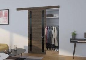 Posuvné dvere na stenu komplet Game - tmavý jaseň - Bez dojezdu