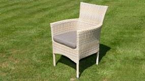 Exterio Capri stolička béžový melír
