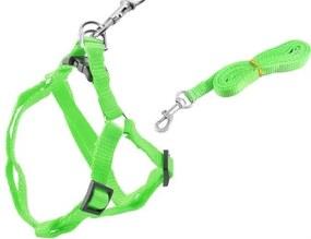 ISO Postroj pre mačky a šteňatá, zelený, 2627