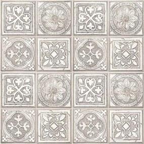 Vliesové tapety, obklad s ornamentom hnedý, Faux Semblant L14307, UGEPA, rozmer 10,05 m x 0,53 m