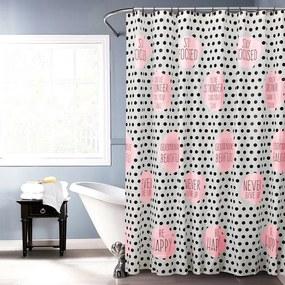 Koopman Sprchový záves Jesika ružová, 180 x 180 cm