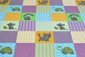 MAXMAX Detský koberec Domáci maznáčikovia obdĺžnikový polyamid krátky vlas multicolor