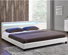 Čalúnená posteľ Paris 180 x 200 cm - biela