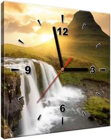 Obraz s hodinami Islandská krajina 30x30cm ZP2050A_1AI