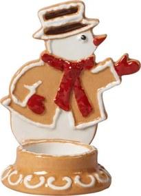Svietnik, snehuliak 7 x 11 cm Winter Bakery Decor.