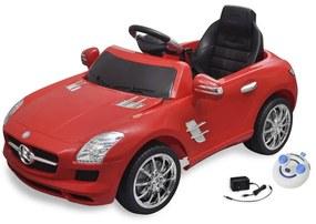 vidaXL Detské elektrické auto s ovládačom červené Mercedes Benz SLS AMG 6 V