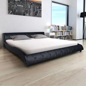 243133 Edco Rám postele 140x200 cm, umelá koža, čierna