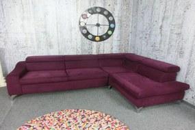 (2784) MUSTERRING luxusní sametová pohovka fialová