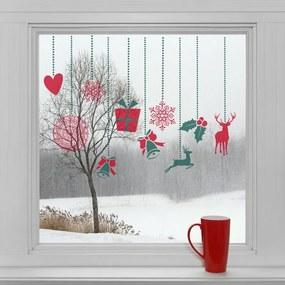 Housedecor Vianočné dekorácie na okno - ozdoby
