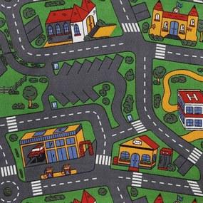 Metrážny koberec CITY LIFE sivý - 200 cm