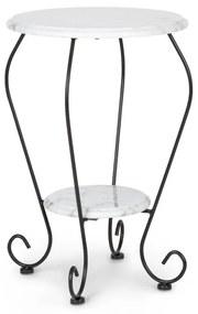 Patras Flower, bistro stôl, 4-Seasons-Marble, vodovzdorný, biely
