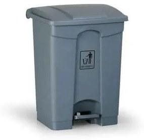 Plastový odpadkový kôš Leo, objem 68 l, sivý