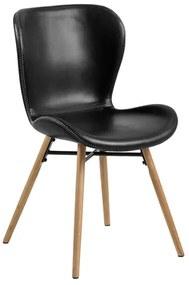 Batilda jedálenská stolička čierna / dub