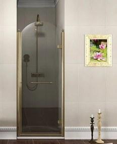 GELCO - ANTIQUE sprchové dvere 900mm, číre sklo, pravé, bronz (GQ1390RC)