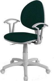 NOWY STYL Smart White detská stolička na kolieskach s podrúčkami zelená (C32)