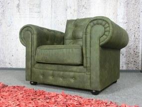 (2507) PRESTON elegantné veľké kreslo zelené