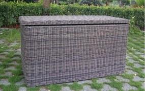 Umělý ratan Box na polstry RONDE Farba ratanu Šedivá