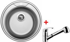Set Sinks ROUND 510 V matný + batéria LEGENDA S