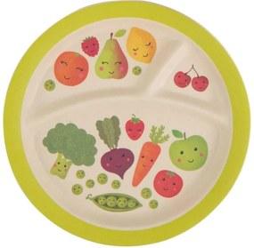sass & belle Bambusový tanierik Happy Fruits & Veg