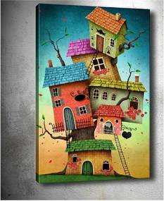 Obraz Tablo Center Tree Houses, 40 × 60 cm