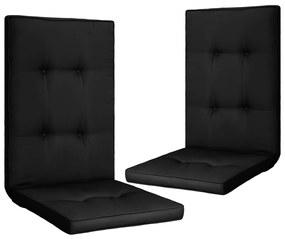 vidaXL Podložky na záhradné stoličky 2 ks, čierne 120x50x5 cm