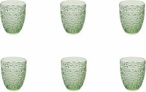 Sada 6 zelených pohárov Villa d'Este Gemma