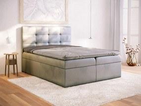 PROXIMA.store - Kontinentálna posteľ CORSE - tmavosivá - 120/140/160/180 Veľkosť postele: Pre matrac 120 x 200 cm