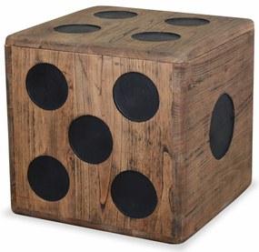 vidaXL Úložný box, mindi drevo, 40x40x40 cm, kockový dizajn