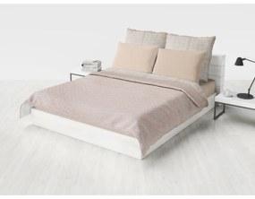 Domarex Prehoz na posteľ Obojstranný Prešívaný PLATINUM 200 x 220 cm Béžová