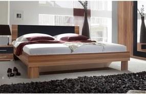 ADELA spálňový komplet orech červený/čierny Posteľ 160 s nočnými stolíkmi