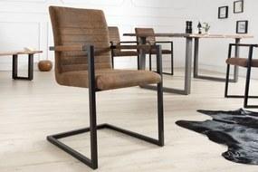 Stolička / konzola Imperial vintage hnedá