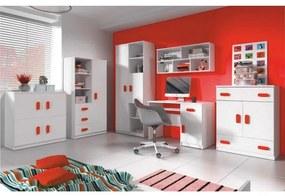 TEMPO KONDELA Svend detská izba biela / červená