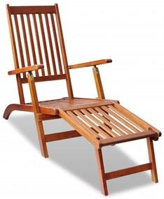 41433 vidaXL Skladacie lehátko do exteriéru z akáciového dreva s opierkou na nohy