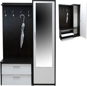 Predsieňová zostava so skrinkou na topánky a úložným priestorom - výber dekorov - - Šedá platinová