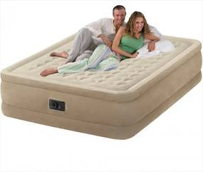 INTEX - nafukovacia posteľ 64458 Ultra Plush Queen s integrovanou elektrickou pumpou