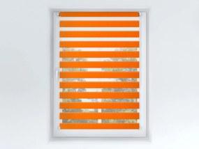 Roleta Deň a noc, Origin slim mandarínka, A 033 Šírka rolety: 100 cm, Výška rolety: 220 cm, Strana a farba mechanizmu: Ľavá - Biela