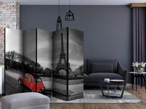Paraván Eiffelova veža a červené auto